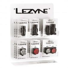 Стенд LEZYNE LED DRIVE XL POP, Настенный стенд включает 3 LED MINI DRIVE XL, 3 POWER DRIVE XL, 3 SUPER DRIVE XL, 2 LED MEGA DRIVE (BOXES DO NOT INCLUDED ACCESSORIES)