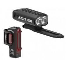Комплект света LEZYNE MICRO DRIVE 600XL / STRIP PAIR Черный / Черный Y13