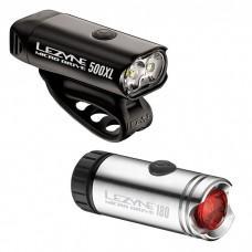 Комплект света LEZYNE MICRO DRIVE 500XL / MICRO PAIR Серебристый