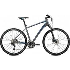 Велосипед MERIDA CROSSWAY 500 XL(59cм) MATT DARK SILVER(BLUE/DARK BLUE)