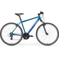 Велосипед MERIDA CROSSWAY 10-V XS(44cм) SILK SEA BLUE(SILVER/DARK BLUE)