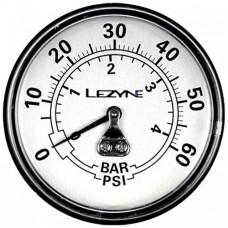 "Манометр LEZYNE 60 PSI GAGUE 2.5"" Серебристый 2.5"", 60PSI REPLACEMENT PRESSURE GAUGE FOR ALL DIRT FLOOR PUMPS, INCLUDES GLUE AND O-RING"