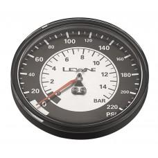 "Манометр LEZYNE 220 PSI GAUGE 3.5"" Серебристый 3.5"", 220PSI REPLACEMENT PRESSURE GAUGE FOR ALL FLOOR PUMPS, INCLUDES GLUE AND O-RING"