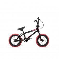 """Велосипед Stolen 12"""" AGENT 2021 BLACK W/ DARK RED TIRES"""