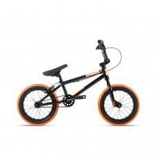 "Велосипед Stolen 14"" AGENT 2021 BLACK W/ DARK NEON ORANGE TIRES"