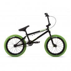 "Велосипед Stolen 16"" AGENT 2021 BLACK W/ NEON GREEN TIRES"