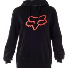 Толстовка FOX LEGACY FOXHEAD PO FLEECE [BLACK RED]