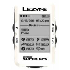 GPS LEZYNE SUPER Белый BLE, ANT+ UNIT, USB CHARGER CABLE INCLUDED. INCLUDES MOUNT FOR HANDLE BARS/STEM AND 2 SMALL ORINGS, 2 LARGE ORINGS