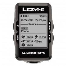 GPS  компьютер  LEZYNE MACRO GPS HR LOADED Чорний  MACRO GPS UNIT, HEART RATE MONITOR, USB CHARGER CABLE INCLUDED. INCLUDES MOUNT FOR HANDLE BARS/STEM AND 2 SMALL ORINGS, 2 LARGE ORINGS