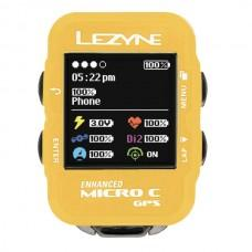 GPS компьютер LEZYNE MICRO C GPS WATCH COLOR Желтый  COLOR GPS WATCH UNIT, HANDLEBAR ADAPTER, USB CHARGER CABLE INCLUDED