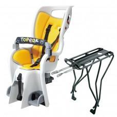 """Детское велокресло Topeak Babyseat II, с / багажной. 26 """", 27.5, 700C, 3.13кг сид. / 580г багажном."""