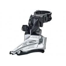 Переключатель передний Shimano  DEORE FD-M6025-Н, 2X10 HIGH CLAMP,DOWN-SWING,DUAL PULL  хомут