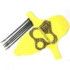 Крыло защ.пер. MTB Fouriers MG001 для аморт.вилки, пластик 0.8мм, 28г, жовт.