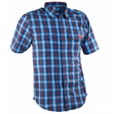 Рубашка RACE FACE SHOP SHIRT-BLUE/NAVY PLAID-L