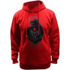 Толстовка FELT Hoody California Grizzly men, red, M
