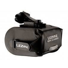 Подседельная сумочка LEZYNE POD CADDY QR - M, черный, WATER PROOF, ROLL ENCLOSURE, COMPOSITE MATRIX SEAT-RAIL MOUNT, QUICK RELEASE (QR) BAG DISCONNECT SYSTEM