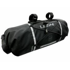 Сумка на руль LEZYNE BAR CADDY Черный WATER RESISTANT HANDLEBAR BAG, SIDE ROLL ENCLOSURES, MOUNT WITH ADJUSTABLE STRAPS, FITS 2x MTB TUBES, PATCH KIT, TIRELEVERS, LARGE MULTI-TOOL, COMPACT JACKET +MORE,  12L CAPACITY