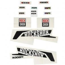 Наклейки на вилку ROCKSHOX DECAL KIT BOXXER 26 / 27.5 BLK / WHT