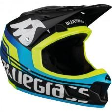 Шлем BLUEGRASS Brave black/cyan/fluo yellow  56-58