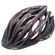 Вело шлем Giro Athlon matte black/red пламя, М