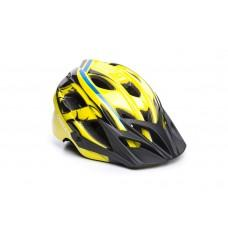Велошлем ONRIDE Rider глянцевый желтый/голубой M (52-56 см)