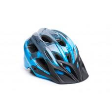 Велошлем ONRIDE Rider глянцевый серый/синий M (52-56 см)