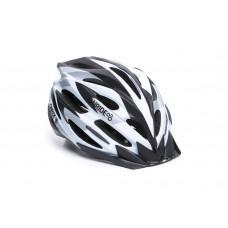Велошлем ONRIDE Grip глянцевый белый/черный/серый L (58-61 см)