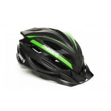 Велошлем ONRIDE Grip глянцевый черный/зеленый L (58-61 см)