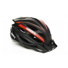 Велошлем ONRIDE Grip глянцевый черный/красный L (58-61 см)