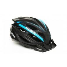 Велошлем ONRIDE Grip глянцевый черный/синий L (58-61 см)