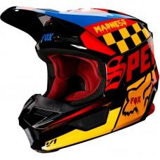 Детский мотошлем FOX YTH V1 CZAR HELMET [BLACK YELLOW]