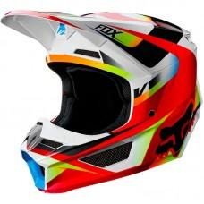 Детский мотошлем FOX YTH V1 MOTIF HELMET [RED WHITE]