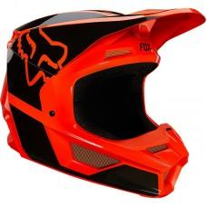 Детский мотошлем FOX YTH V1 MIPS REVN HELMET [Flo Orange]