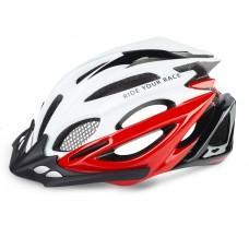 Шлем R2 Pro-Tec 2020 цвет белый черный / глянцевый размер L (58-62 см)
