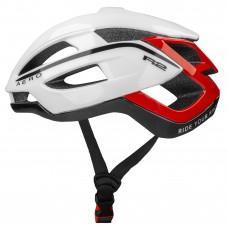 Шлем R2 Aero 2020 цвет белый черный красный / глянцевый размер L (58-62 см)