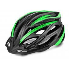 Шлем R2 Arrow 2019 цвет Черный / Зеленый (матовый) размер S (54-56 см)