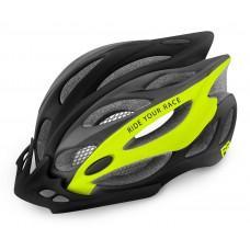 Шлем R2 Wind 2020 цвет серо-неоново-желтый матовый р. L: 58-61 cm