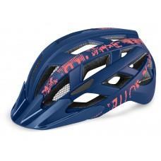 Шлем R2 Lumen Junior 2020 цвет сине-неоново-красный матовый р. S: 52-55 cm