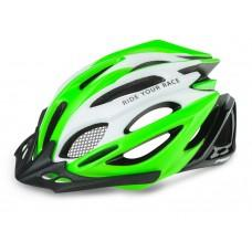 Шлем R2 Pro-Tec 2019 цвет белый зеленый черный / матовый глянцевый размер L (58-62 см)