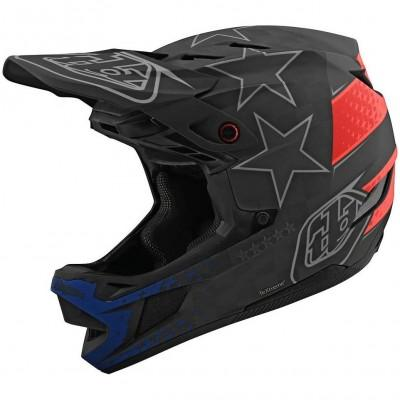 Вело шлем фуллфейс TLD D4 Carbon [Freedom 2.0 Black/Red] размер LG
