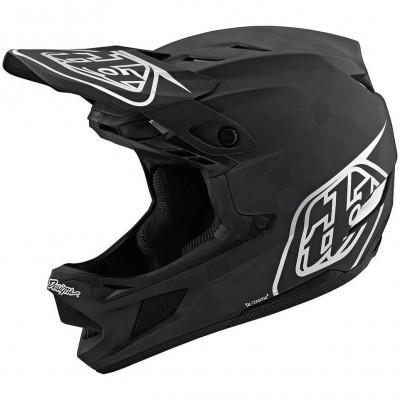 Вело шлем фуллфейс TLD D4 Carbon [Stealth Black/Silver] размер LG