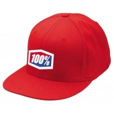 "Кепка Ride 100% ""ICON"" 210 Fitted Hat Red , L/XL"