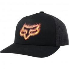 Детская кепка FOX YOUTH FLAME HEAD SNAPBACK HAT [BLACK]