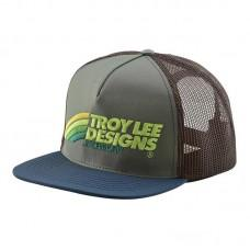 Кепка TLD Velo Snapback (green/brown)