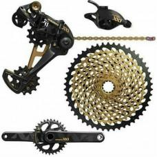 Групсет SRAM XX1 Eagle DUB 12шв 170 BOOST DM Звезда 32t X-SYNC Gold Chain XG-1299 10-50t Black