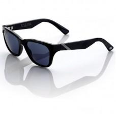 "Спортивные очки 100% ""ATSUTA"" Sunglasses Gloss Black - Grey Tint, Mirror Lens"