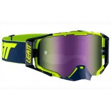 Мото очки LEATT GOGGLE VELOCITY 6.5 IRIZ - BLUE 55% Ink/Lime Mirror Lens