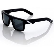"Спортивные очки 100% ""BOWEN"" Sunglasses Matte Black/White - Grey Tint, Mirror Lens"