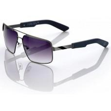 "Спортивные очки 100% ""HAKAN"" Sunglasses Brushed Silver - Grey Gradient Tint, Mirror Lens"