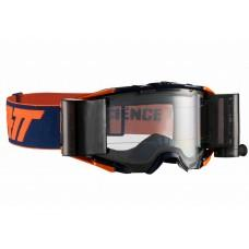 Мото очки LEATT GOGGLE VELOCITY 6.5 Roll-Off - CLEAR 83% Inked/Orange, Roll-Off